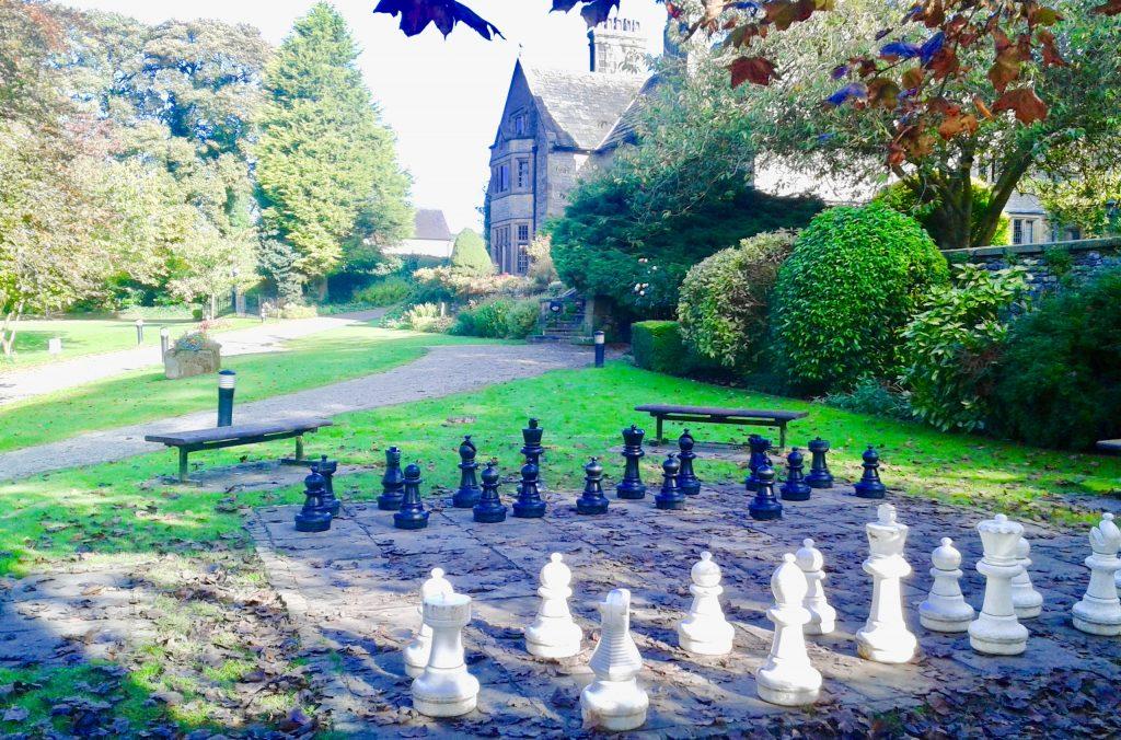 Outdoor chess at Hartington Hall