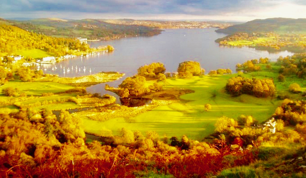 Brathay Hall and Lake Windermere, Cumbria