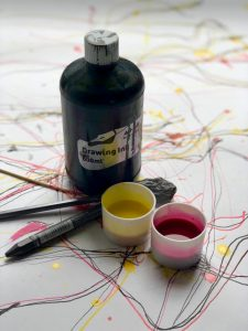 Coloured drawing ink