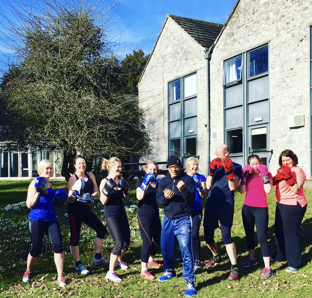 Feeling energised after a boxing session